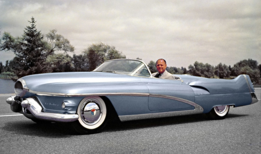 1951 Buick LeSabre show car with Harley Earl GM Archives RESIZED 1