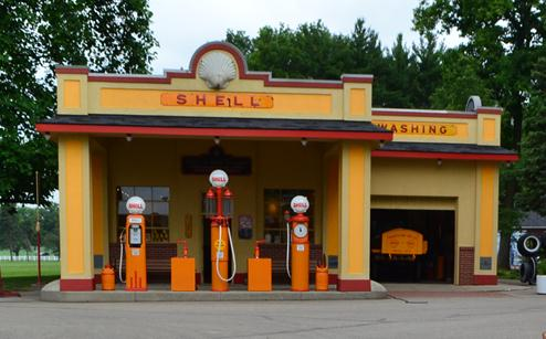 1930s Shell Gas Station Gilmore Car Museum 1