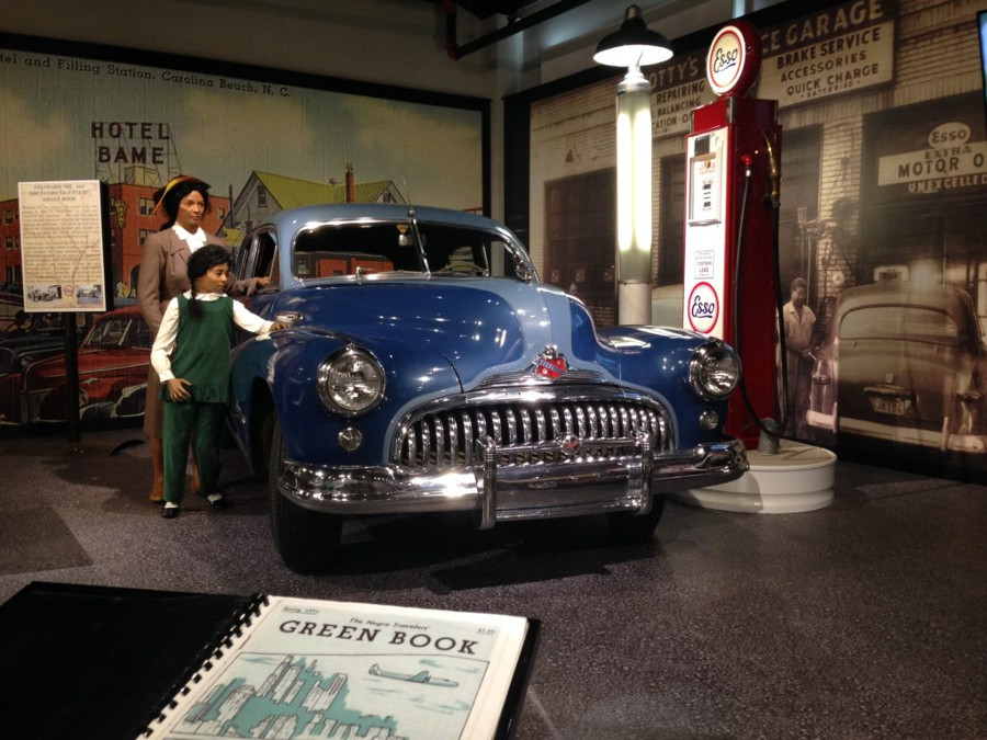 Green Book exhibit with 1940s Buick Gilmore Car Museum RESIZED 7