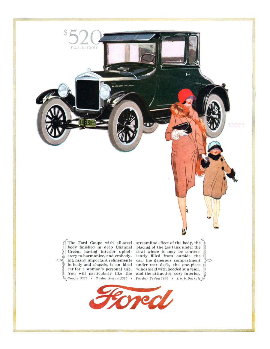 1926 Ford Model T Coupe Ad Robert Tate Collection RESIZED 1