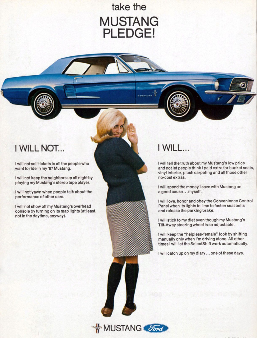 1967 Ford Mustang ad Robert Tate Collection RESIZED 6
