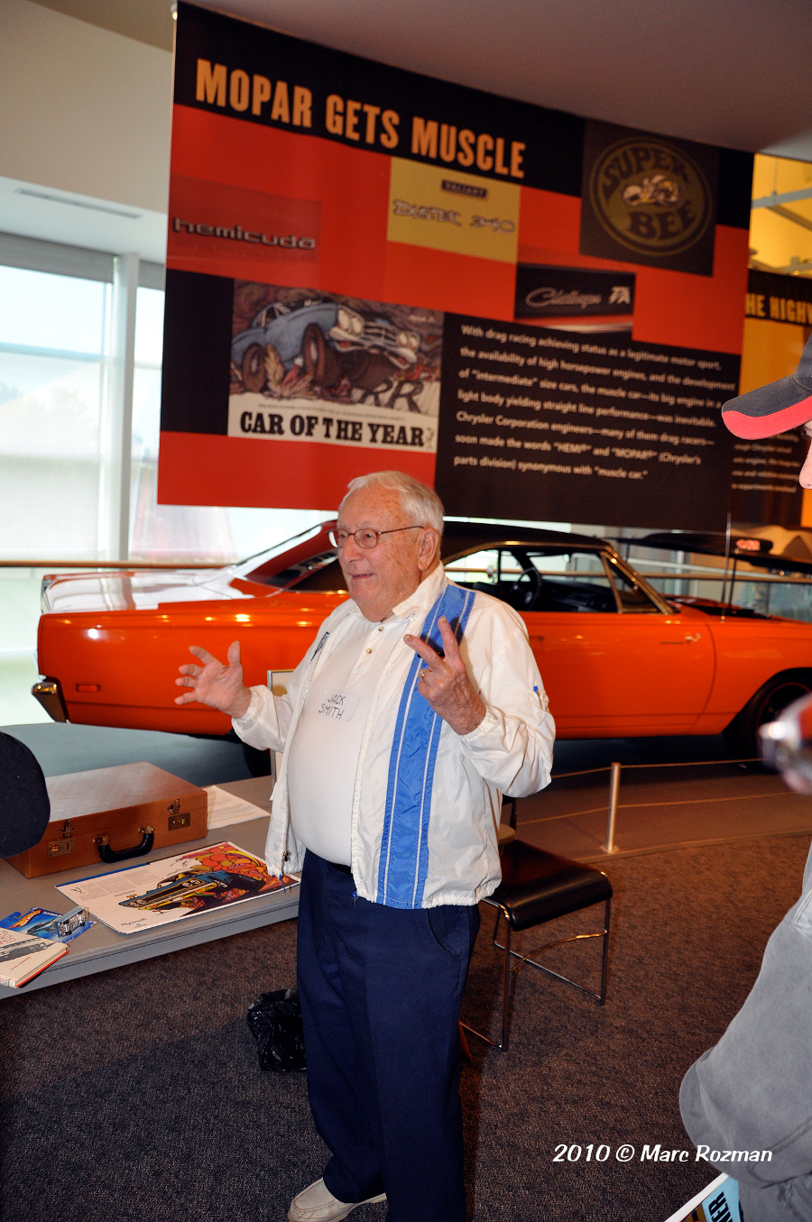 RESIZED Jack Smith at the Walter Chrysler Museum on September 18 2010 Photo by Marc Rozman 6