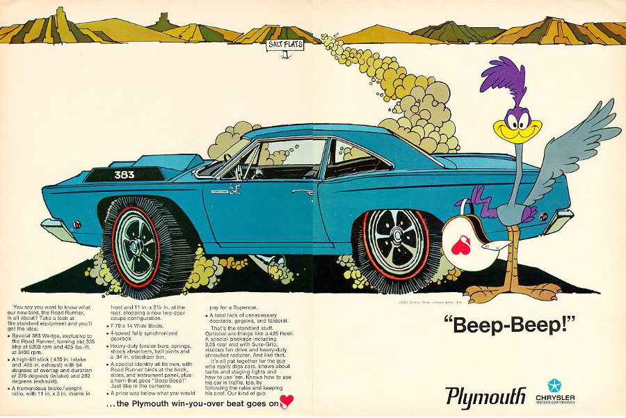 RESIZE Plymouth Road Runner ad Chrysler Archives 4