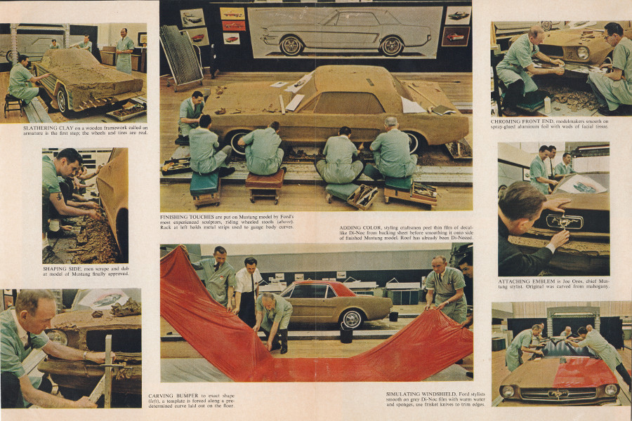 Resized Ford Design Studio Mustang images by Edward Bailey for Time Magazine 1964 Ford Motor Co 2