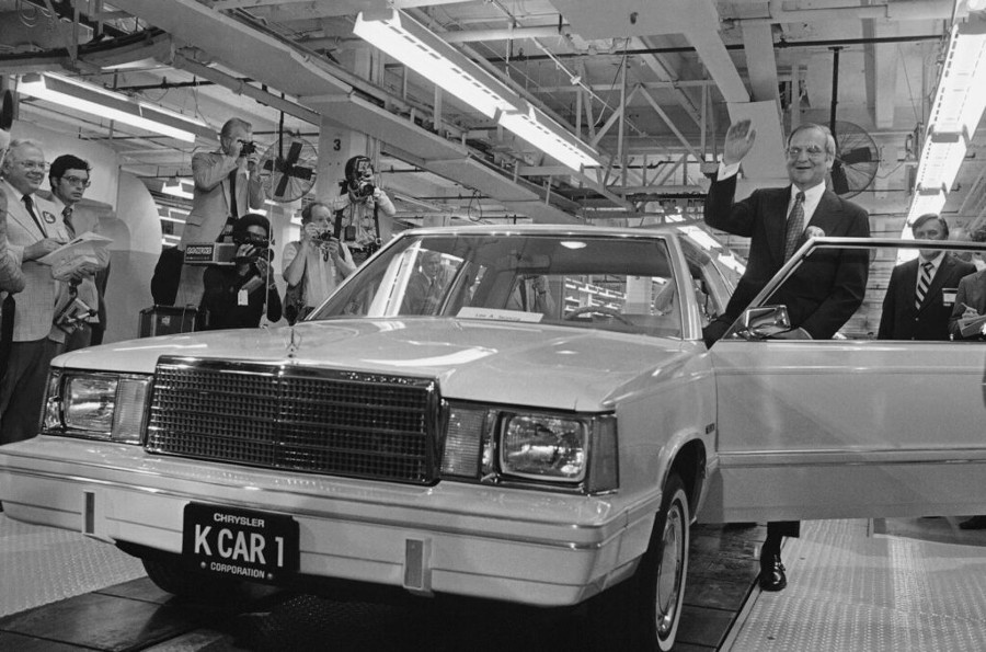 Resized Lee Iacocca with Chrysler K Car Portland Press Herald 6