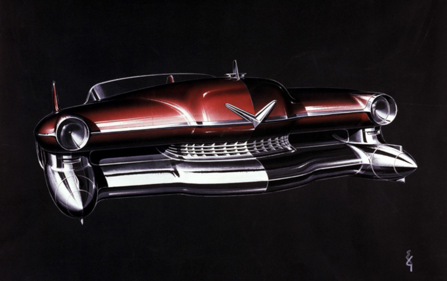 1948 Cadillac artist rendering by Ed Glowacke GM Media Archives RESIZED 1