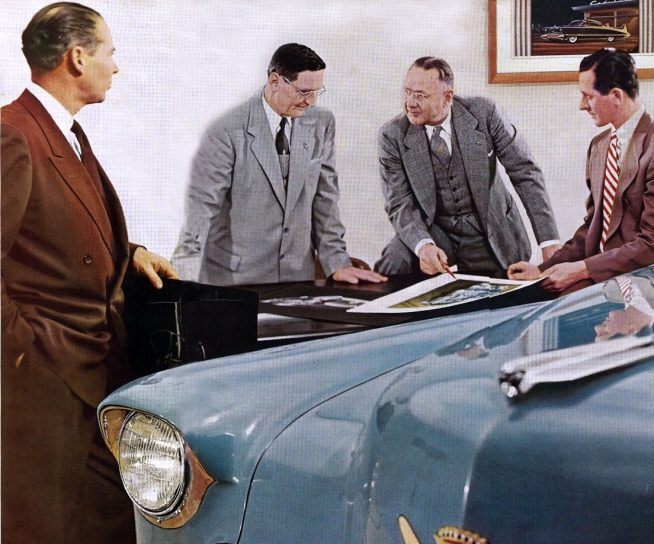 1950s Cadillac Design Studio with Ed Glowacke on the far right GM Media Archives 6