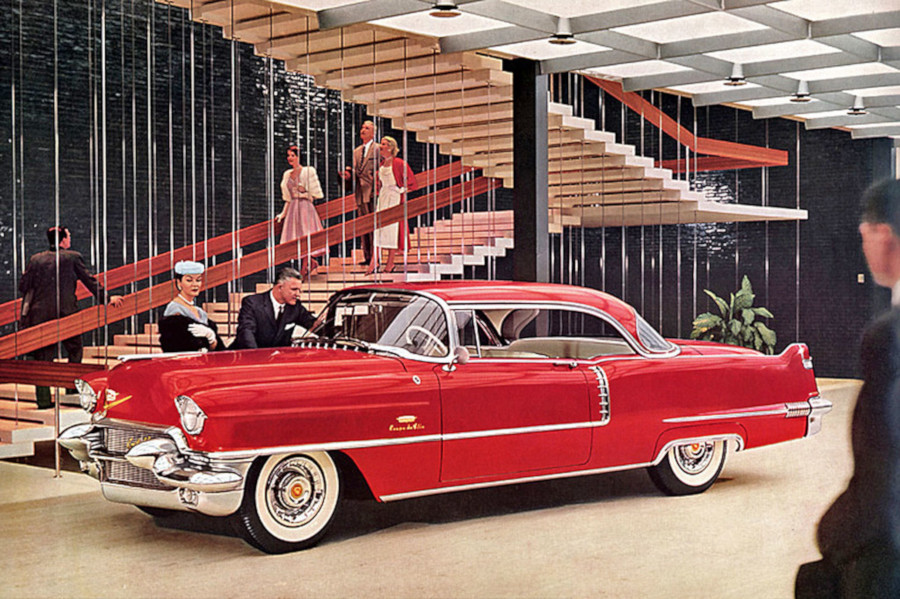 1956 Cadillac parked inside the GM Tech Center lobby GM Media Archives RESIZED 7