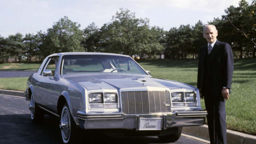 Irvin Rybicki standing next to a 1979 Buick Riviera General Motors RESIZED 7
