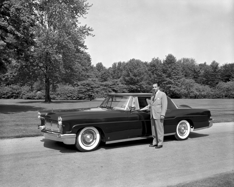 William Clay Ford standing with the 1956 Lincoln Continental Mark II RESIZED 5