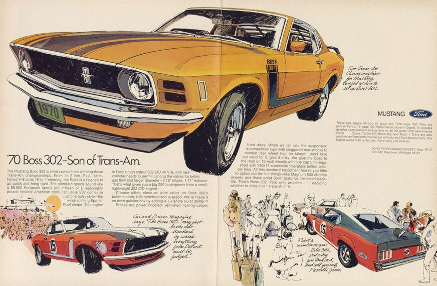 1970 Ford Mustang advertising Ford Tate Collection