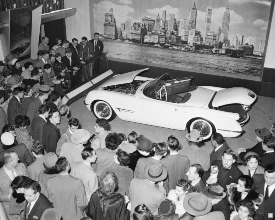 The 1953 Chevrolet Corvette on display at the Motorama Show GM Media Archives RESIZED 8