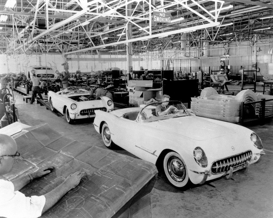The first Corvette produced in Flint Michigan on June 30 1953 GM Media Archives RESIZED 2