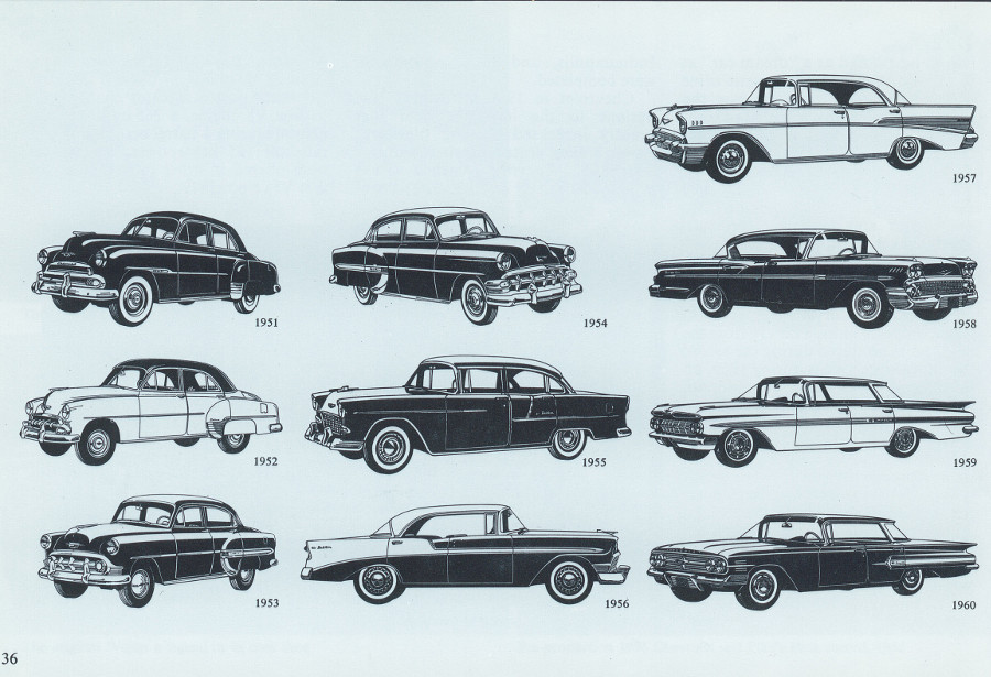 Chevrolet cars of the 1950s from brochure 4 Tate Collection RESIZED