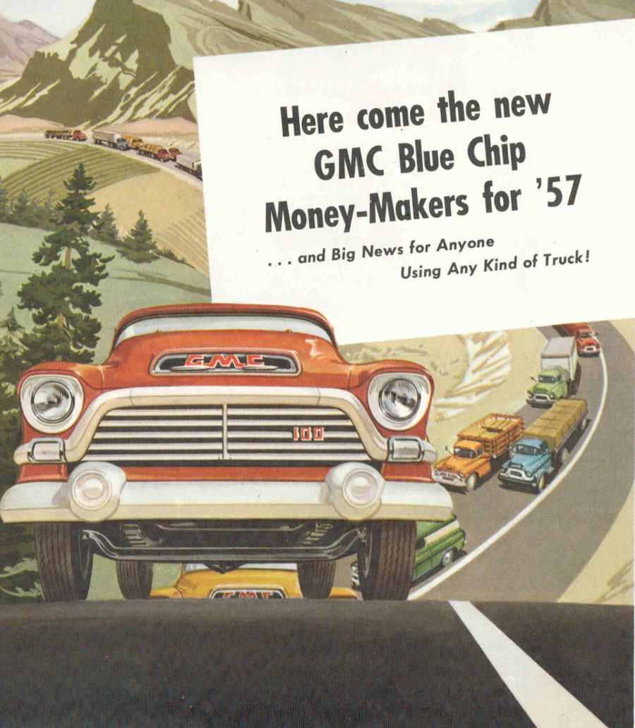 RESIZED 1 1957 GMC Truck Ad cropped