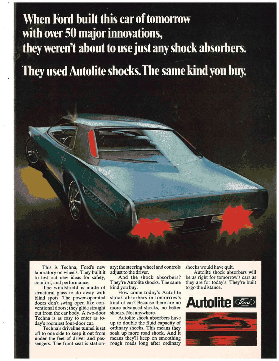 Autolite Ford Techna magazine ad RESIZED