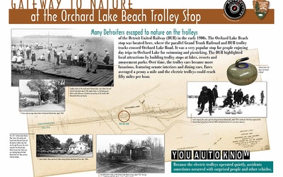 The Orchard Lake Beach Trolley Stop