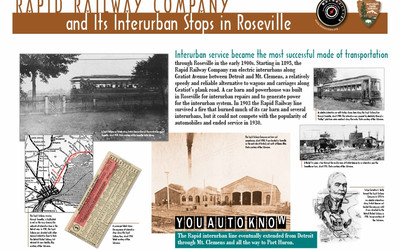 Rapid Railway Company and Its Interurban Stops in Roseville