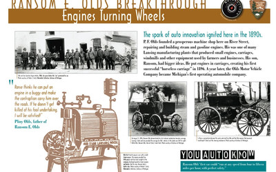 Ransom E. Olds Breakthrough Engines Turning Wheels