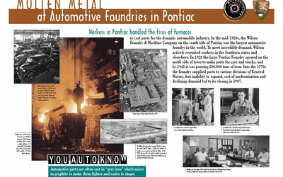 Molten Metal at Automotive Foundries in Pontiac